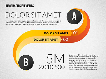 Round and Curved Infographic Elements, Slide 3, 02256, Infographics — PoweredTemplate.com