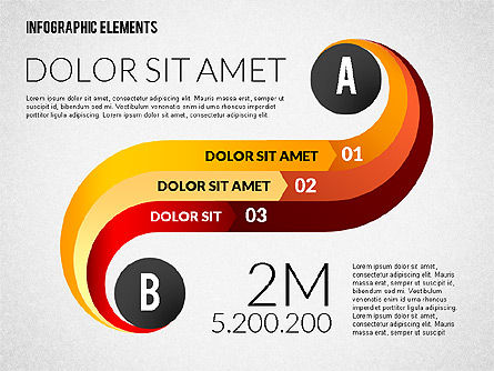 Round and Curved Infographic Elements, Slide 4, 02256, Infographics — PoweredTemplate.com