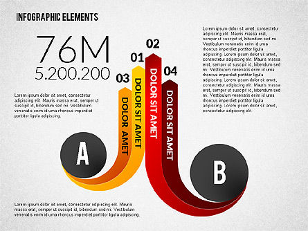 Round and Curved Infographic Elements, Slide 8, 02256, Infographics — PoweredTemplate.com