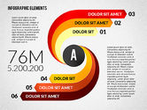Infographics: Round and Curved Infographic Elements #02256