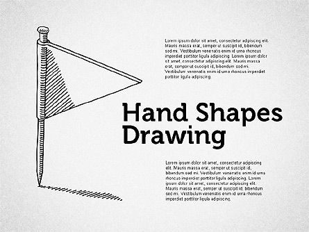 Stickman Hand Drawn Shapes, 02258, Shapes — PoweredTemplate.com