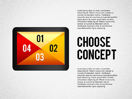 Making a Choice Concept, 02259, Presentation Templates — PoweredTemplate.com