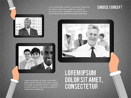 Making a Choice Concept, Slide 10, 02259, Presentation Templates — PoweredTemplate.com
