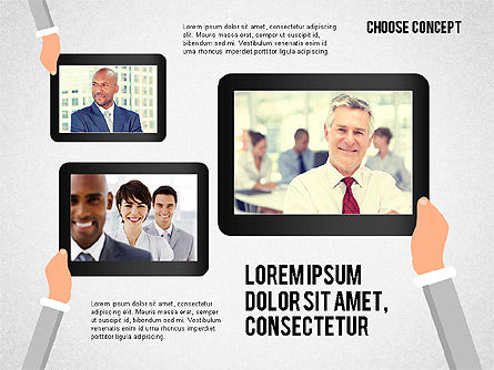 Making a Choice Concept, Slide 2, 02259, Presentation Templates — PoweredTemplate.com