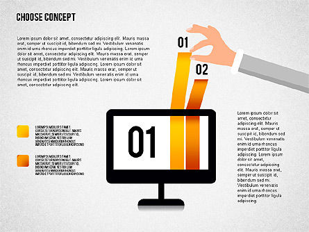 Making a Choice Concept, Slide 3, 02259, Presentation Templates — PoweredTemplate.com