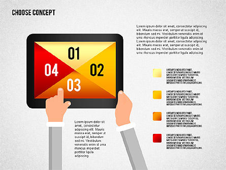 Making a Choice Concept, Slide 8, 02259, Presentation Templates — PoweredTemplate.com
