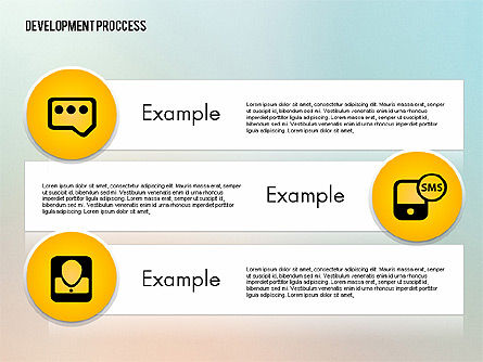 Media Sharing Process with Icons, Slide 11, 02260, Icons — PoweredTemplate.com