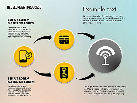 Media Sharing Process with Icons, Slide 13, 02260, Icons — PoweredTemplate.com