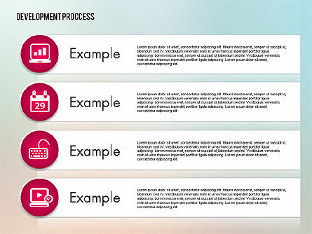 Media Sharing Process with Icons, Slide 14, 02260, Icons — PoweredTemplate.com
