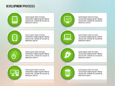 Media Sharing Process with Icons, Slide 15, 02260, Icons — PoweredTemplate.com