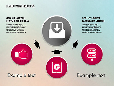Media Sharing Process with Icons, Slide 5, 02260, Icons — PoweredTemplate.com