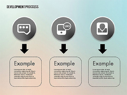Media Sharing Process with Icons, Slide 6, 02260, Icons — PoweredTemplate.com