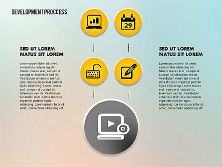 Media Sharing Process with Icons, Slide 7, 02260, Icons — PoweredTemplate.com