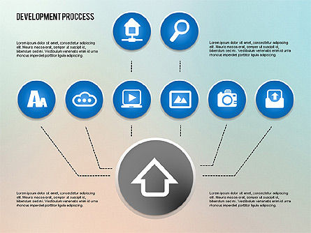 Media Sharing Process with Icons, Slide 9, 02260, Icons — PoweredTemplate.com