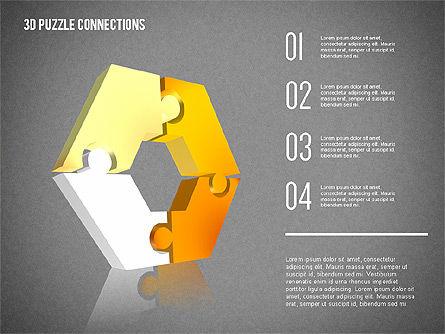 3D Puzzle Connections, Slide 10, 02262, Puzzle Diagrams — PoweredTemplate.com
