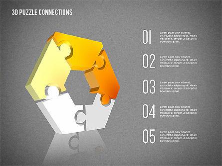 3D Puzzle Connections, Slide 11, 02262, Puzzle Diagrams — PoweredTemplate.com