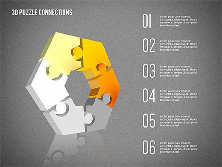 3D Puzzle Connections, Slide 12, 02262, Puzzle Diagrams — PoweredTemplate.com