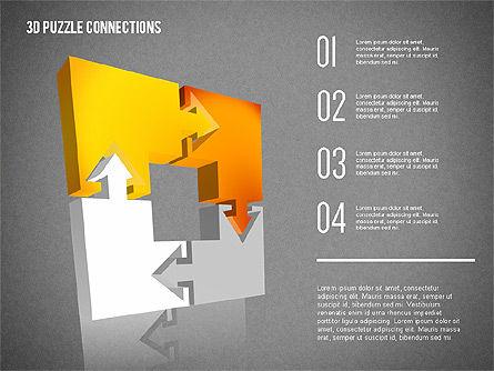 3D Puzzle Connections, Slide 14, 02262, Puzzle Diagrams — PoweredTemplate.com