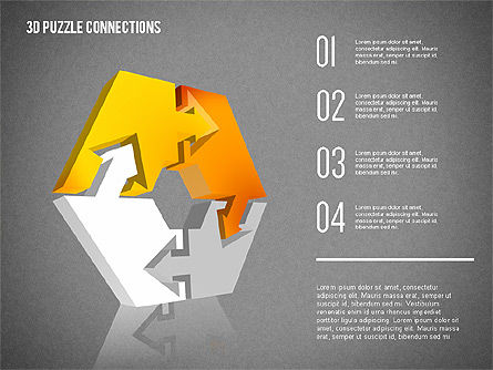 3D Puzzle Connections, Slide 15, 02262, Puzzle Diagrams — PoweredTemplate.com