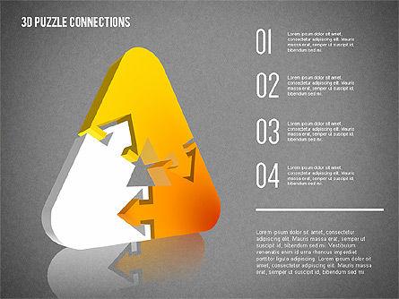 3D Puzzle Connections, Slide 16, 02262, Puzzle Diagrams — PoweredTemplate.com