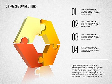 3D Puzzle Connections, Slide 2, 02262, Puzzle Diagrams — PoweredTemplate.com