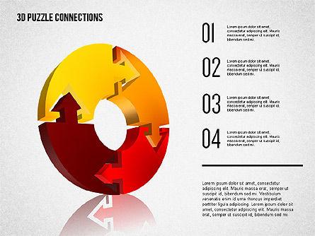 3D Puzzle Connections, Slide 5, 02262, Puzzle Diagrams — PoweredTemplate.com