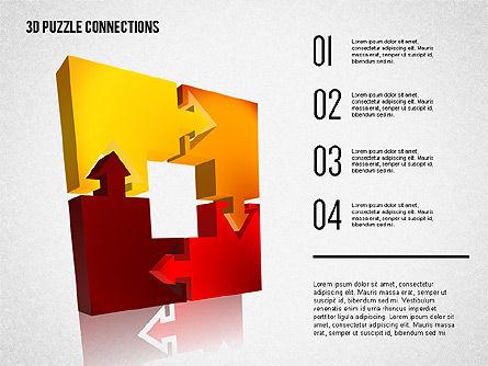 3D Puzzle Connections, Slide 6, 02262, Puzzle Diagrams — PoweredTemplate.com