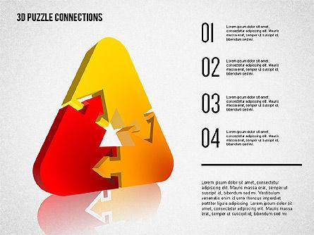 3D Puzzle Connections, Slide 8, 02262, Puzzle Diagrams — PoweredTemplate.com