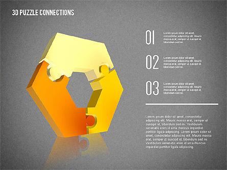 3D Puzzle Connections, Slide 9, 02262, Puzzle Diagrams — PoweredTemplate.com