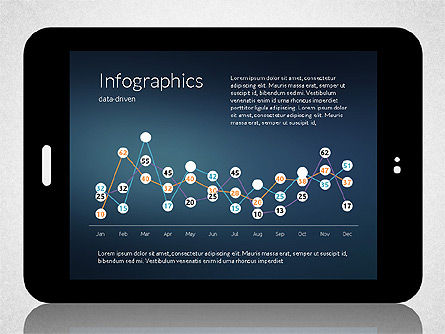 Business Presentation with Touch Pad (data driven), Slide 2, 02263, Presentation Templates — PoweredTemplate.com