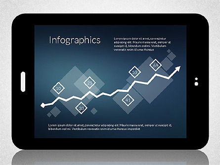 Business Presentation with Touch Pad (data driven), Slide 3, 02263, Presentation Templates — PoweredTemplate.com