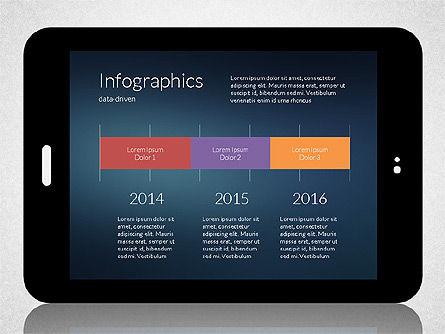 Business Presentation with Touch Pad (data driven), Slide 6, 02263, Presentation Templates — PoweredTemplate.com