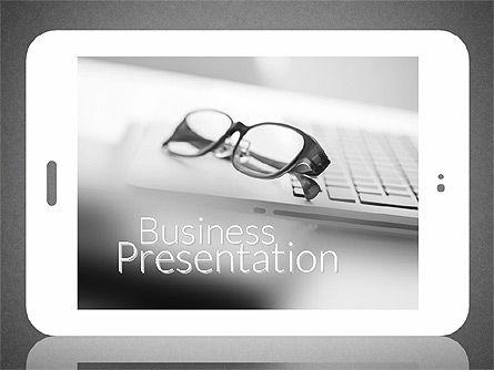 Business Presentation with Touch Pad (data driven), Slide 9, 02263, Presentation Templates — PoweredTemplate.com