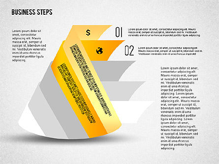Geometric Shapes with Steps and Icons, Slide 2, 02264, Stage Diagrams — PoweredTemplate.com
