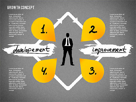 Growth Concept Presentation Template, Slide 10, 02269, Presentation Templates — PoweredTemplate.com