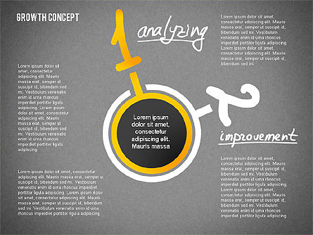 Growth Concept Presentation Template, Slide 12, 02269, Presentation Templates — PoweredTemplate.com