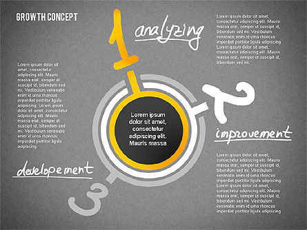 Growth Concept Presentation Template, Slide 13, 02269, Presentation Templates — PoweredTemplate.com