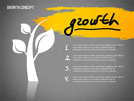 Growth Concept Presentation Template, Slide 14, 02269, Presentation Templates — PoweredTemplate.com