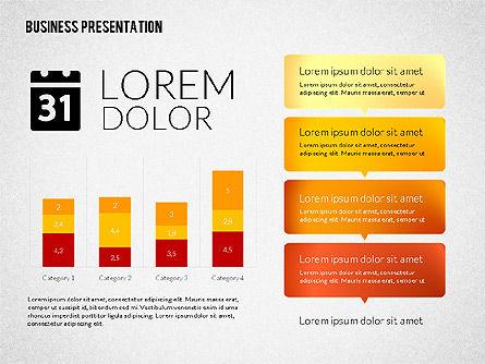 Presentation Templates: Zakelijke presentaties met platte producten #02275