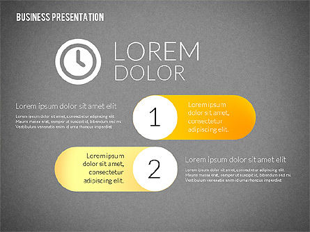 Business Presentations with Flat Shapes, Slide 10, 02275, Presentation Templates — PoweredTemplate.com