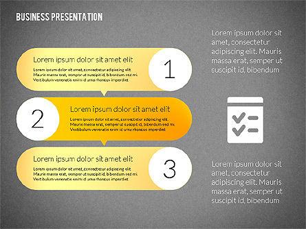 Business Presentations with Flat Shapes, Slide 11, 02275, Presentation Templates — PoweredTemplate.com