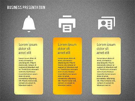 Business Presentations with Flat Shapes, Slide 12, 02275, Presentation Templates — PoweredTemplate.com