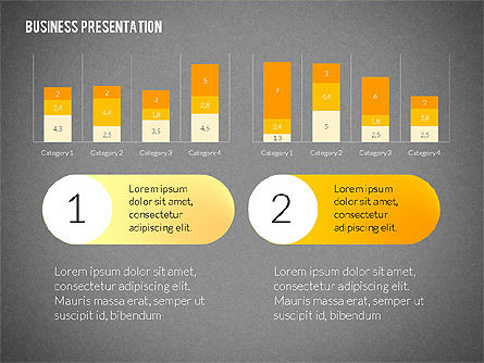 Business Presentations with Flat Shapes, Slide 13, 02275, Presentation Templates — PoweredTemplate.com