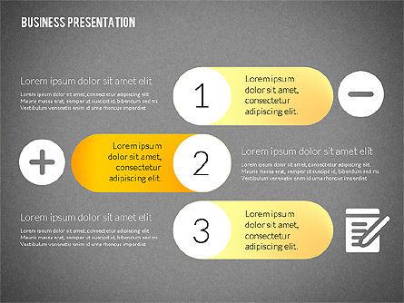 Business Presentations with Flat Shapes, Slide 14, 02275, Presentation Templates — PoweredTemplate.com