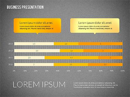 Business Presentations with Flat Shapes, Slide 15, 02275, Presentation Templates — PoweredTemplate.com