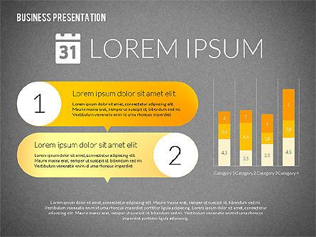 Business Presentations with Flat Shapes, Slide 16, 02275, Presentation Templates — PoweredTemplate.com