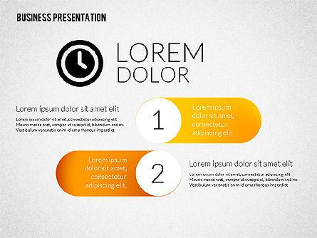 Business Presentations with Flat Shapes, Slide 2, 02275, Presentation Templates — PoweredTemplate.com