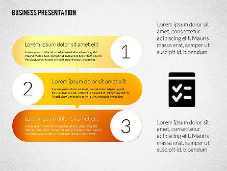 Business Presentations with Flat Shapes, Slide 3, 02275, Presentation Templates — PoweredTemplate.com