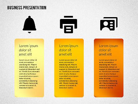 Business Presentations with Flat Shapes, Slide 4, 02275, Presentation Templates — PoweredTemplate.com