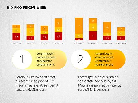Business Presentations with Flat Shapes, Slide 5, 02275, Presentation Templates — PoweredTemplate.com